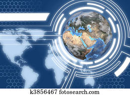Technology Earth Globe Communications System Design