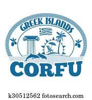 Corfu stamp
