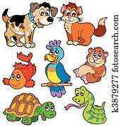 Gruppo Di Animali Domestici Immagine K4686354 Fotosearch