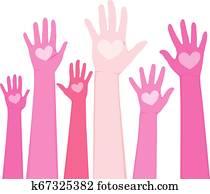 International Volunteer Day Hands Concept
