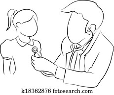 pediatrician with a girl
