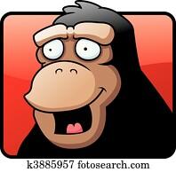 Ape Smiling