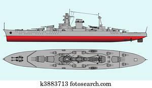 Military navy ships