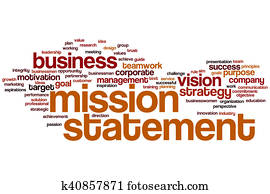 Mission statement word cloud