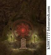 Skull cave crypt