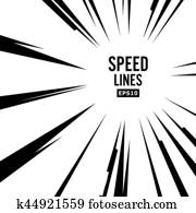 Comic Speed Lines Vector. Explosion Vector Illustration. Square Stamp.