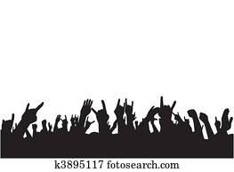 Fans on concert