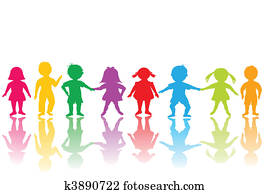 Group of colored children