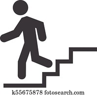 Down stairs icon