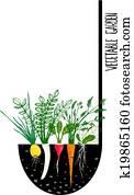 Grow Vegetable Garden and Cook Soup