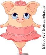 schwein, ballerina