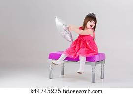 e6d2aa8fb423f Stock Photography of Little girl in princess dress on a background ...
