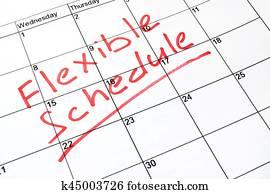 Flexible schedule concept.