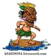 Tiki surfing