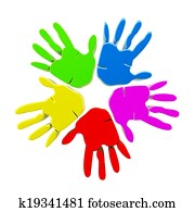 Hands colorful logo vector