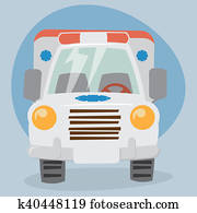 Cartoon Ambulance Truck