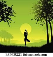 Female in yoga pose