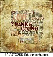 Giving Thanksgiving Blessing