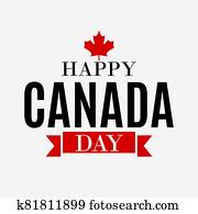Happy Canada Day Background greeting card.  Illustration