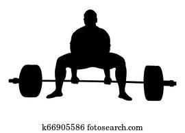 athlete powerlifter exercise deadlift