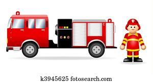 Iconic Figure Fireman