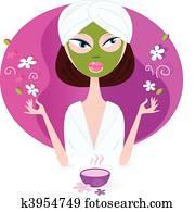 Girl enjoying aromatherapy