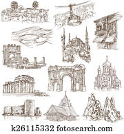 Architecture - hand drawn pack