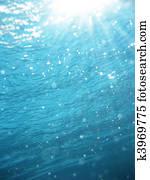 Light rays underwater