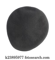 12914265b709c Stock Photography of Black woven beret flat-crowned hat isolated ...