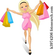 Shopping girl: