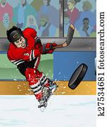 Chicago ice hockey player