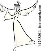 engelchen, trompete, horn