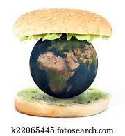 the world inside a sandwich