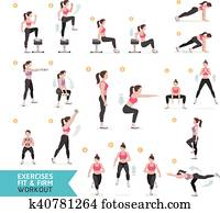 Woman workout fitness, aerobic and