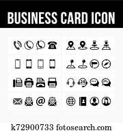 Business card icon contact symbol vector image