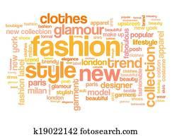 Fashion tag cloud