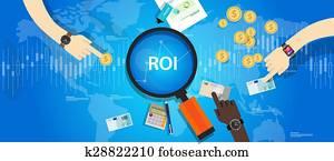 roi, rückkehr, auf, von, investition