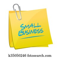 small business memo post sign concept illustration