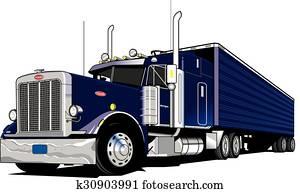 18 Wheeler-Semi Truck