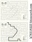 Easy cat maze - learning number 2