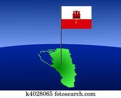 Archivio Illustrazioni Bandiera Di Gibilterra K13862976 Cerca