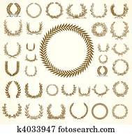 Vector Laural Wreaths