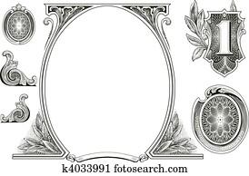 Vector Money Ornaments
