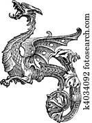 Vector Ornate Dragon