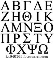 3D Greek Alphabet