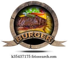 Burger- Wooden Symbol