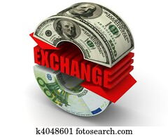 Currency exchange. dollar. Euro