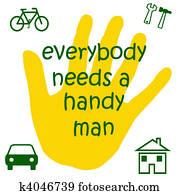 handyman sign