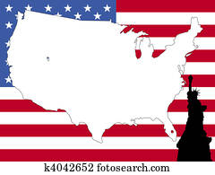map of USA background
