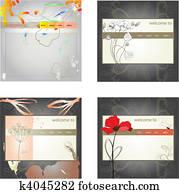 Set of website design template